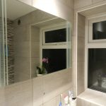 Completed bathroom tiling