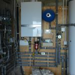 Wiring and boiler installation