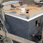 Roof under repair - tiles in place
